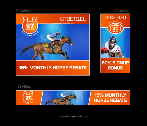 GT Bets - design of flash banners
