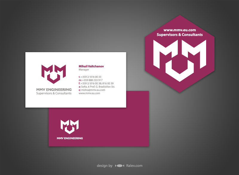 MMV engineering - business cards design