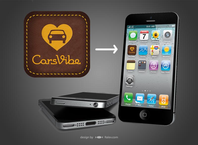 Cars Vibe - icon logo design for phone app