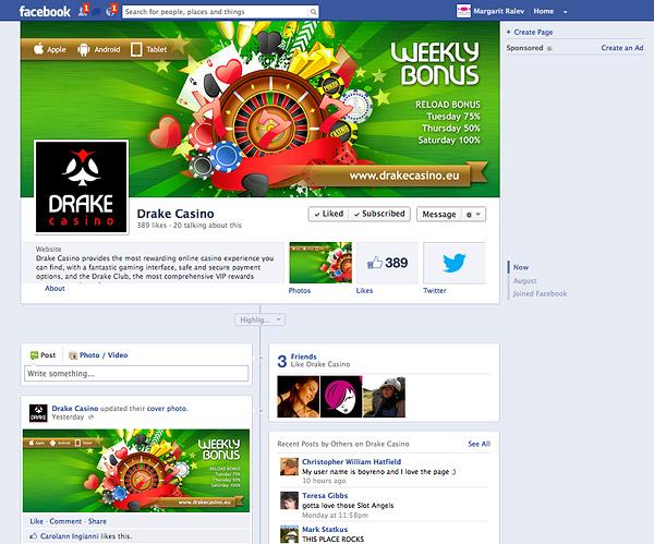 Drake - online casino facebook design