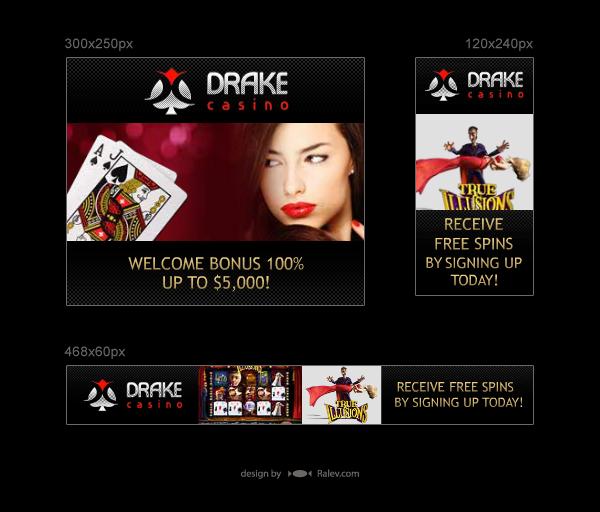 Drake - online casino banners design