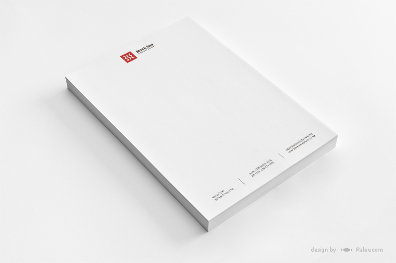 commercial building letterhead A4 design