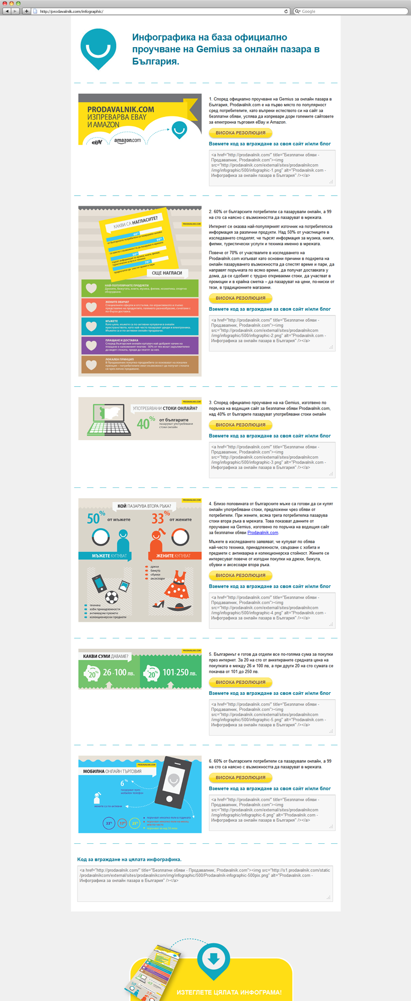 online retailer infographic design