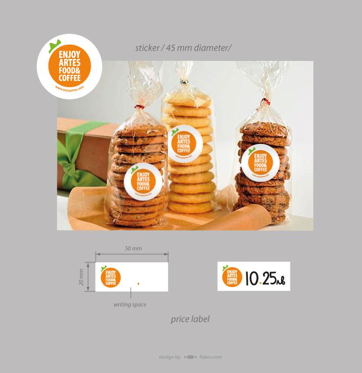 cafeteria price label design