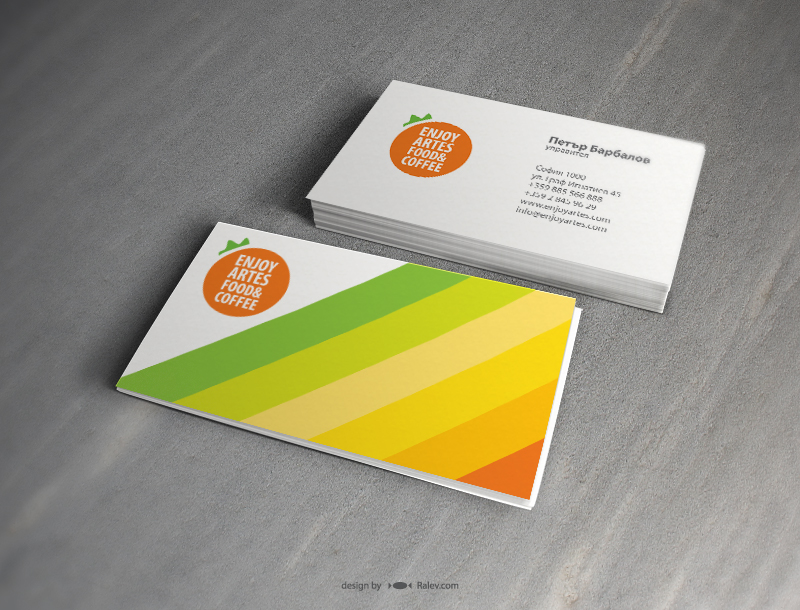 coffee house business card design