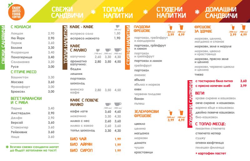 coffee house interior menu design