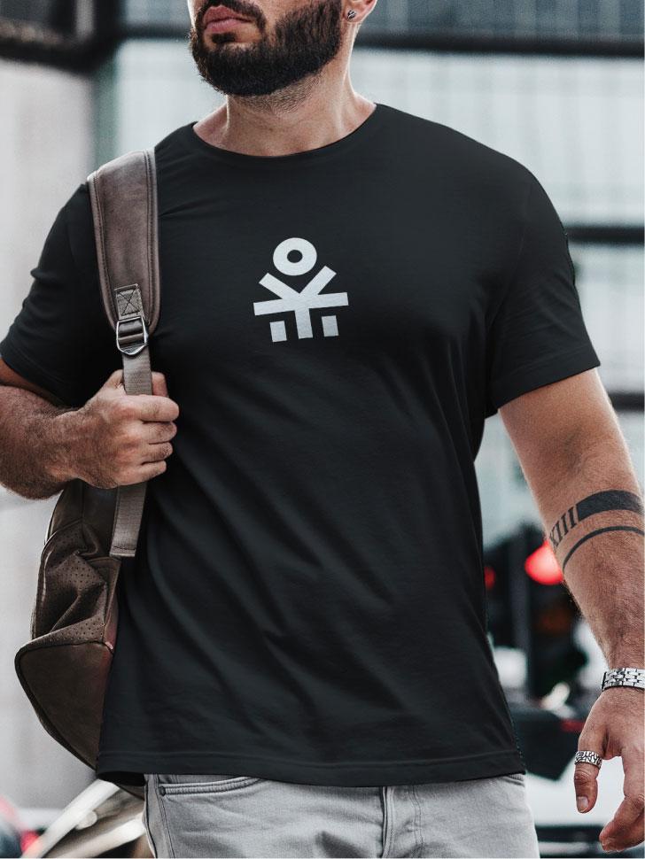 Black branded T-shirt