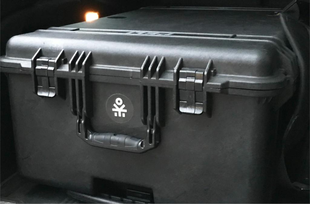 Frangov sticker on a box