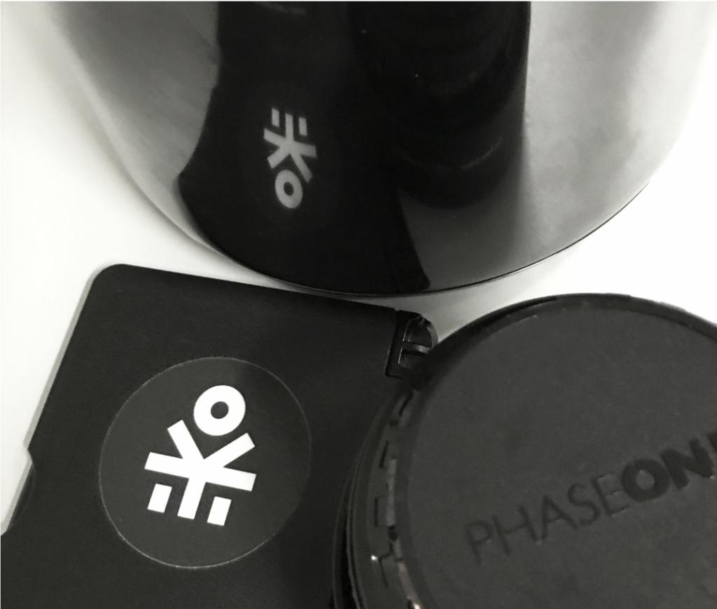 Frangov logo sticker used on phone case